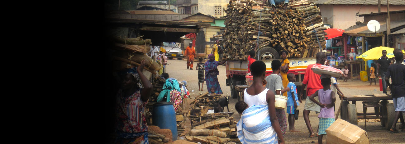Fuelwood for sale in Elmina Town, Ghana